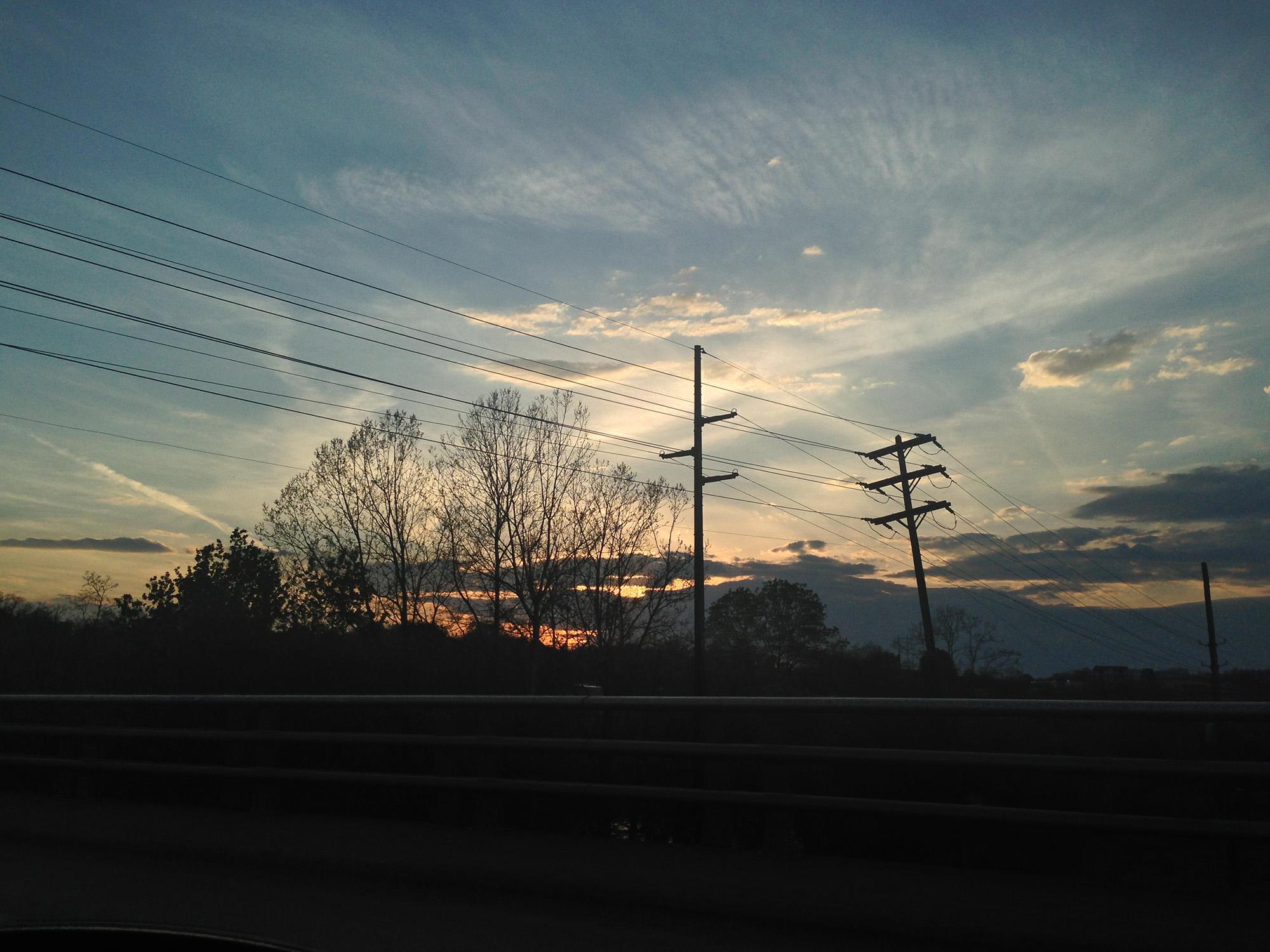 Sunset in Asheville North Carolina / Darker than Green