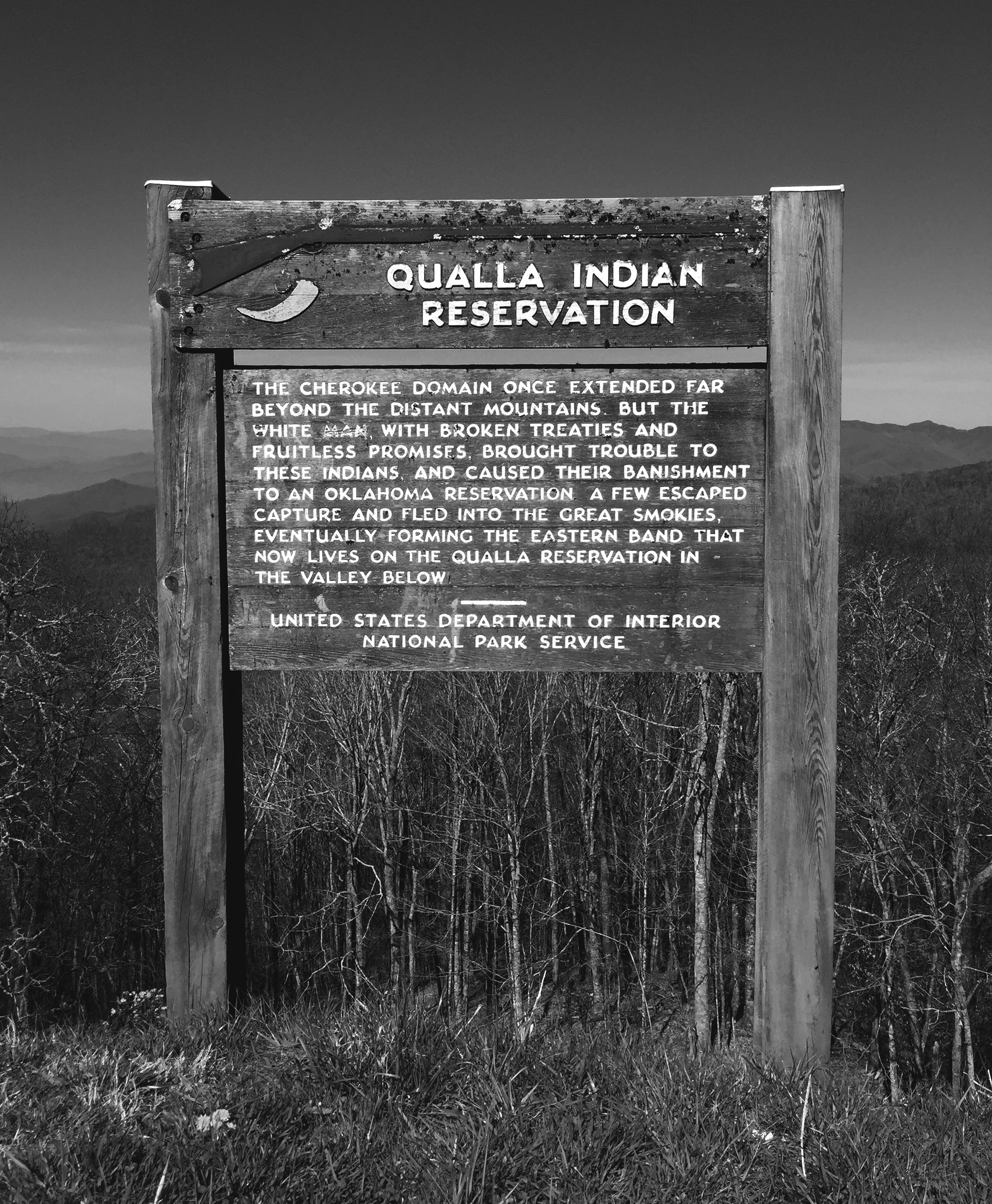 Plaque in Great Smoky Mountains National Park / Darker than Green