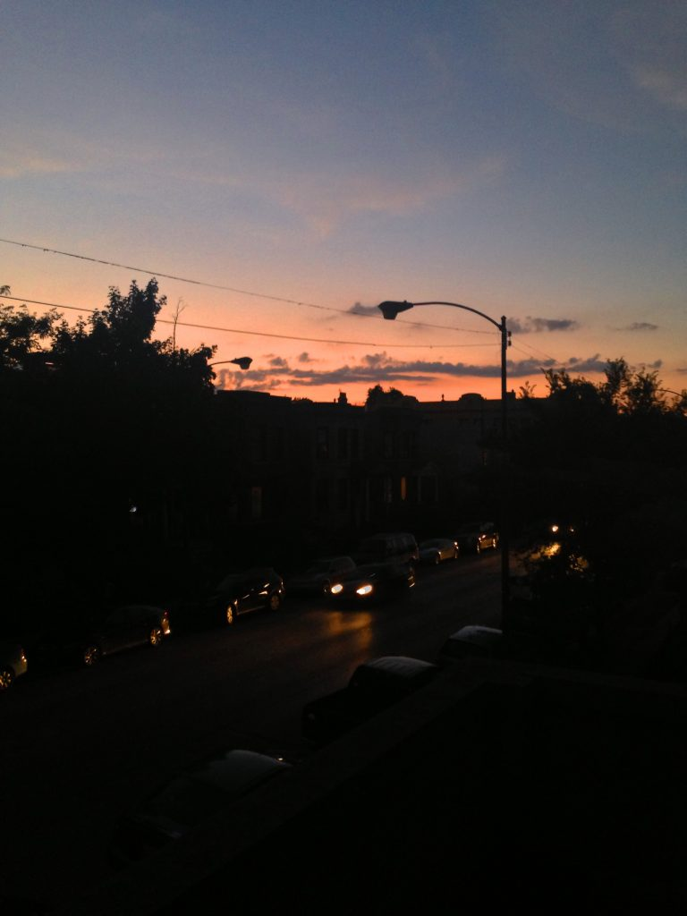 Sunset in Chicago / Darker than Green
