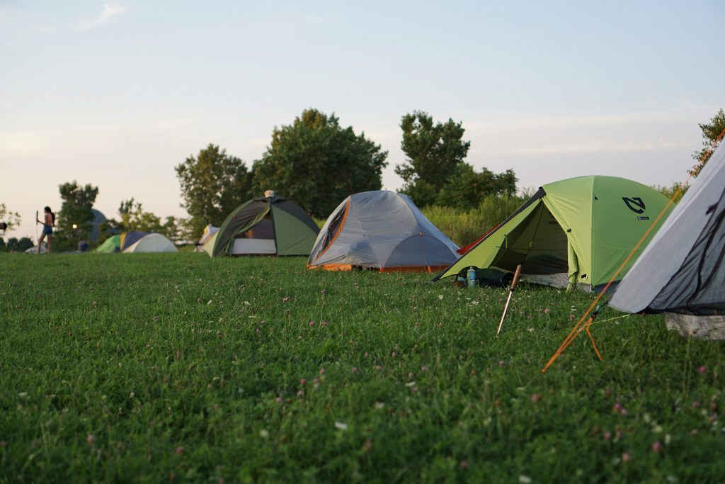 Tents on Northerly Island, Chicago / Darker than Green