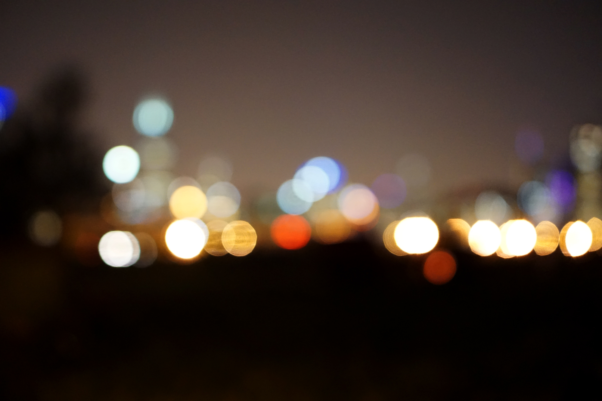 Chicago skyline out of focus, Darker than Green