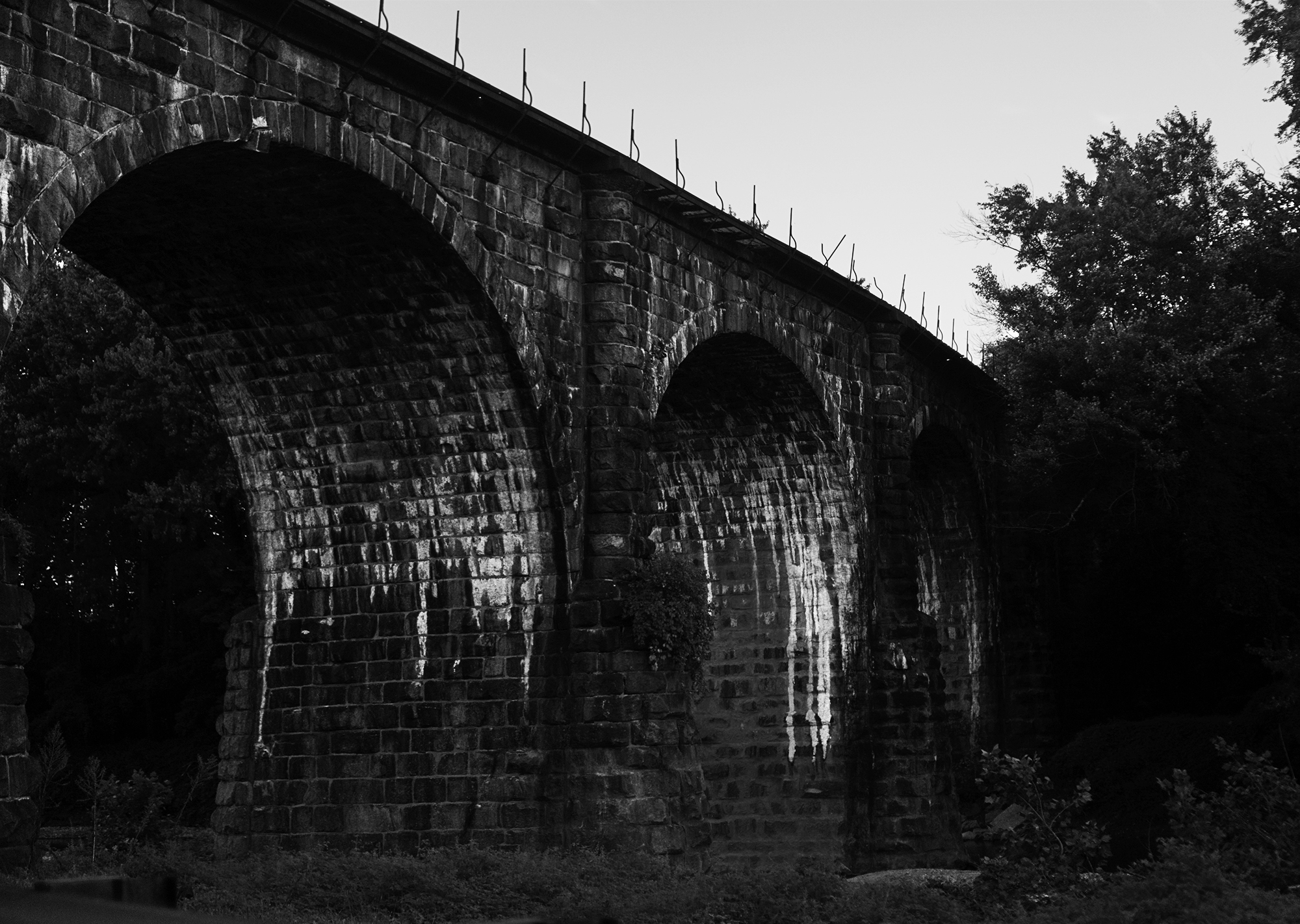 Stone bridge at the entrance to Patapsco Valley State Park, Maryland / Darker than Green